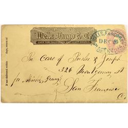 Placerville Wells Fargo Franked  Cover  (125049)