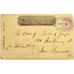 Placerville Wells Fargo Franked  Cover  (125049)