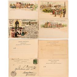 Brussels International Exhibition, 1897 Postcards (4)  (118564)