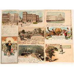 Beautiful German Art Cards from Munchen, 1899 (7)  (118555)