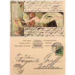 Choice German Art Card Featuring a Mermaid and Rheingold Nugget  (118563)