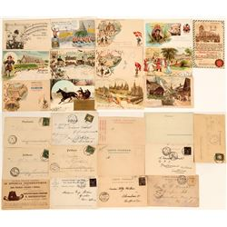 European Festival Postcards, Most dated 1900 (13)  (118553)