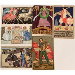 German & Swiss Art Cards Circa 1911-1912 (6)  (118573)