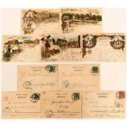 German Industrie Gewerbe (Industrial) Postcard Group, 1897 (5)  (118559)