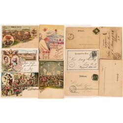 Greetings from Schutzenfest, Rosenfest and Volksfest Postcards, 1898  (118557)