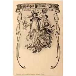 Leipziger Ballspiel Club Postcard, 1893  (118561)