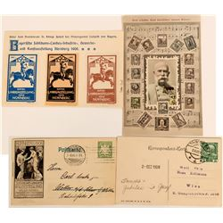 Postage Stamp Related Postcards from Germany (2)  (118562)