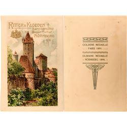 Ritter & Kloeden Advertising Postcard, Medal Winners, Paris & Nurnberg, 1890's  (118565)