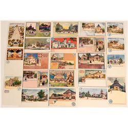 Set of German Exhibition Art Postcards, 1898 (21)  (118558)