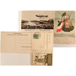 Balloon and Blimp Postcards 1909-1910  (118576)