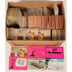 Comedy Post Card Hoard, Unused Store Inventory, 1950s-60s  (125576)