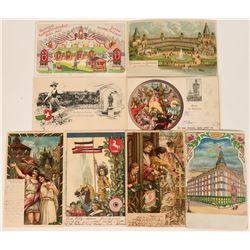 European Art Litho Festival Postcards, 1903 (8)  (118575)