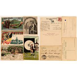 Five Colorful European Festival Art Cards  (118571)