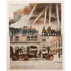 Nice Firefighter Postcards (2)  (105351)