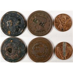Counterstamped U.S. Coins  (122958)