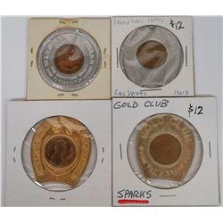 Encased Pennies (Lot of 4)  (124047)