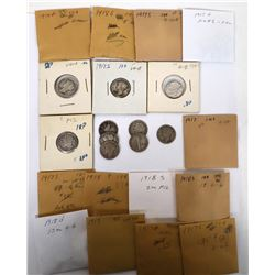 Mercury Dimes 1917-18  (122591)