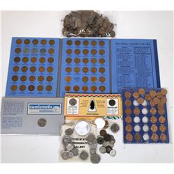 Wheatback Penny Hoard and Lincoln Cent albums and The Rest of the Box (326)  (124143)