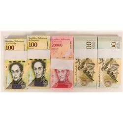 Venezuela Crisp Uncirculated Currency Lot (4)  (125253)
