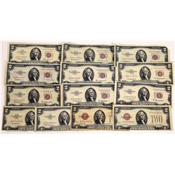 $2 United States Notes Vintage (13)  (124136)