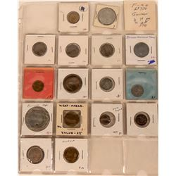 German Token and Medal Collection (69 Pieces)  (122941)