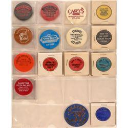 Fresno California Plastic Token Collection  (122930)