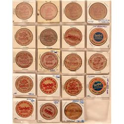 Fresno California  Wooden Nickel Collection  (122931)