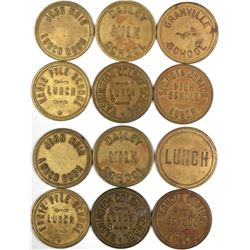 Six Different School Lunch Tokens Fresno California  (122673)