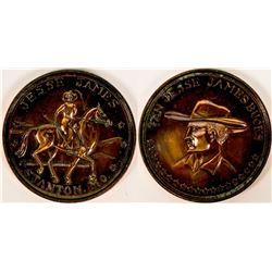 Ten Jesse James Bucks Coin Stanton, MO Souvenir  (117334)