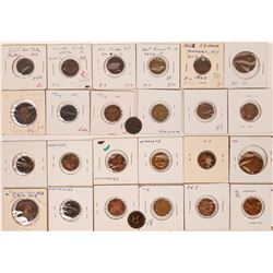 Civil War tokens, self identified store cards  (125016)