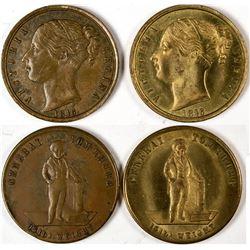 Queen Victoria/Tom Thumb Counters (2)  (122959)