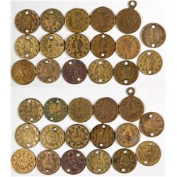 U. S. $1 Gold Coin Counters (17)  (122987)