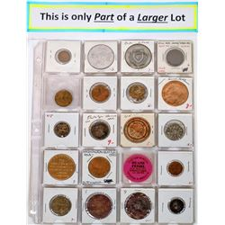 U.S. Advertising Token Collection (122 pieces)  (122608)