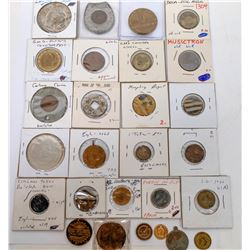 Unusual Group of Tokens (27 Pieces)  (122952)