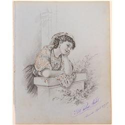 Beautiful Young Woman by Hugo Nahl  (117453)