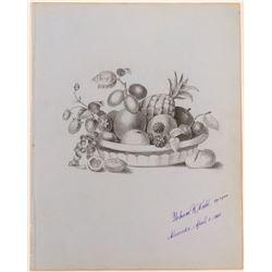 Bowl of Fruit by Perham Wilhelm Nahl  (117452)