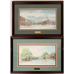 Spring & Winter in Dahlonega Signed Prints by Brewer  (55127)