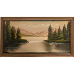 Original Oil Painting  Lake McDonald, Glacier National Park    (117711)