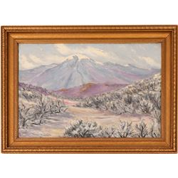 Thos. Grimm Oil Painting of Mt. Rose, 1929  (115344)