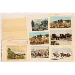 Country Life Themed Courrier & Ives' Prints  (122055)