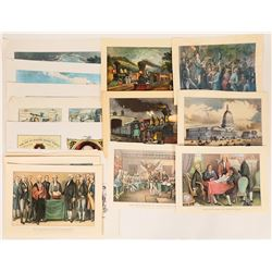 Courrier & Ives' Patriotic and Train Prints (24)  (122056)