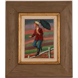 """Oil Painting """"The Young Acrobat"""" by Maurice Kish  (117705)"""