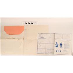 Amelia Robin Die-cut Cardboard Santa Figure (2 sets)  (124628)