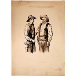 "Cowboy Watercolor ""Calm Down, Pete""  (109845)"