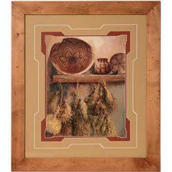 Framed Pottery Prints (4)  (110580)