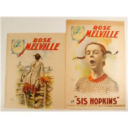 Rose Melville Lithographs (2)  (78971)