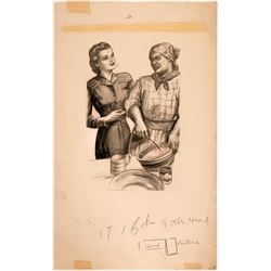 Woman with Cook Illustration  (110435)