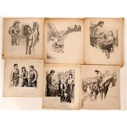Women in the West Illustrations (6)  (110424)