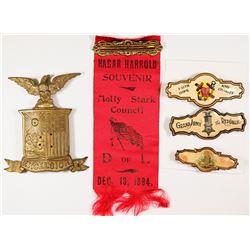 Fraternal Badges and Ribbon - 5 pcs  (125855)