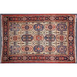 Antique Carpet / Possibly Herize Serapi Tribal Carpet  (102102)